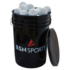 "Bsn Sportsâ""¢ Bucket with 60 White Lacrosse Balls"