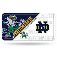 Notre Dame Fighting Irish License Plate Lightweight Metal Official NCAA Licensed