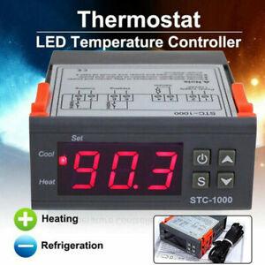 AC110-220V STC-1000 Digital Temperature Controller Thermostat + NTC Probe Sensor