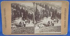 Northern Pacific Railroad Stagecoach at Summit of Beaver Hill Stereoview