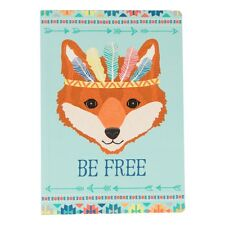 Unique animal adventure A5 notebook 'Be Free' Fox lovely accessory, gift, kids