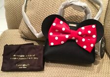 NWT Kate Spade Disney Minnie Mouse Handtasche Crossbody schwarz Polka Dot Schlei...