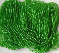 Oak Leaf Br Green Seed Beads Vintage Glass Transparent 68g Hank 14bpi (2698804)