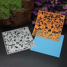 Butterfly Flower Frame Cutting Dies Stencil Scrapbooking Album Paper Card Craft