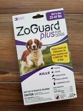 Zoguard Plus For Dogs & Puppies 23-44 Lbs 3 Month Supply Flea & Tick Treatment