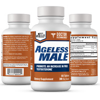 Ageless Male Free Testosterone Booster by New Vitality - NEW - 60 Tablets