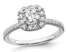 3/4 quilates (CTW G-H-I, SI1-SI2) Lab crecido Diamante Anillo 14K oro