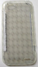 Clear Argyle TPU GEL Case Cover for HTC ONE V