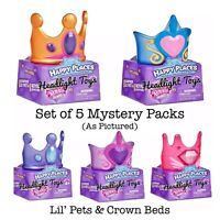 5 Shopkins Happy Places ROYAL TRENDS Blind Mystery Packs Lil Pet & Crown Bed HTF