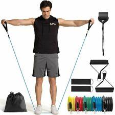 11pcs/set Resistance Bands Yoga Pull Rope Elastic Bands Gym Expander Workout US