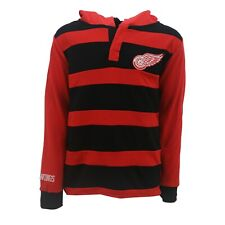 Detroit Red Wings Official NHL Apparel Kids Youth Size Striped Hooded Sweatshirt