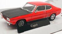 Cararama 1/43 Model Car Scale 4141070 - Ford Capri RS - Sunset Red