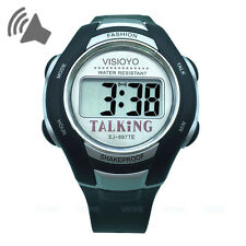 VISIOYO Digital English Talking Wristwatch with Alarm Sports Style for Blind