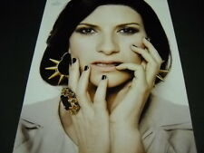 Laura Pausini fingers to her face 2014 photo image Promo Poster Ad mint cond