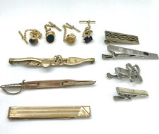 pieces Swank Anson Tigers Eye Agate Sword Vintage Tie Tack Clasp Mixed Lot 11