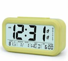 TXL Kids Digital Bedside Large LCD Alarm Clock with Snooze and Light Function