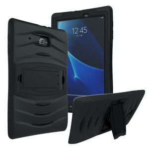 Shockproof Heavy Duty Armor Case Cover For Galaxy Tab E Lite 7.0 T116 (Black)