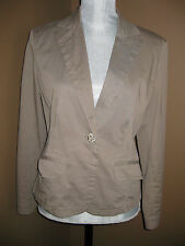 NIE + ZOE BROWN STRETCH BLAZER JACKET WOMEN SIZE MEDIUM M EUC!!