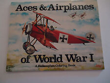 Coloring Book - Vintage -  Aces & Airplanes of World War I