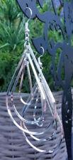 Multi tear drop silver plated dangle earrings