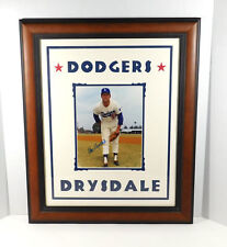 Don Drysdale Signed Photo with Name in Matting Dodgers Auto Framed DA025356