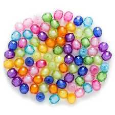 50 Piece Random Mixed Acrylic Pineapple Faceted Jewelry Making Spacer Beads 10mm