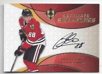 2008-09 Ult Signatures hockey card Patrick Kane autographed Chicago Blackhawks