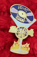 Hard Rock Cafe Pin Orlando VELVET SESSIONS MARTINI GLASS record lp lapel hat