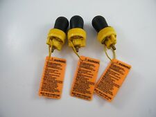 """(3) CHERNE CLEAN-SEAL: 1-1/2"""" TEST PLUGS, 271-508, USED ~ SHOW WEAR"""