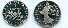 Gertbrolen*  1 Franc Semeuse Nickel 1998 Qualité Belle Epreuve 7 404 Exemplaires