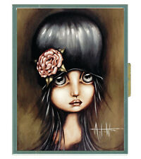 Classic Hardware Wallet Case ANGELINA WRONA - ANIKA - Great Goth Art!