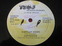 """RARE REGGAE 12"""" 45  LOVINDEER - BABYLON BOOPS - KRIMSON HAWK - TSOJ 401"""