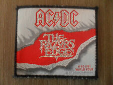 AC DC the razors Edge 1990-1991 world tour patch Sew On