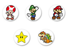 Lot Badge Button Ø38mm Super Mario Bros Nintendo Luigi Yoshi Retro Gaming