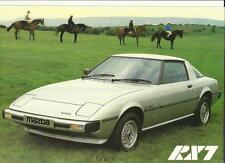 """MAZDA RX7 """"brochure"""" / Feuille 1979"""
