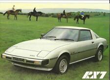 MAZDA RX7  'SALES BROCHURE'/SHEET 1979