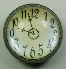 Crystal Dome Button Old School Clock Face FREE US SHIPPING