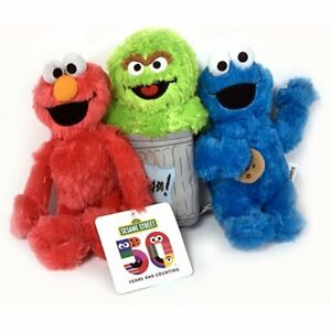 Set of 3 Large Sesame Street Plush Toys 14-15 inches. New. Official. Soft