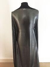 Foil Printed Metallic Pewter Satin backed Chiffon Dressmaking Fabric