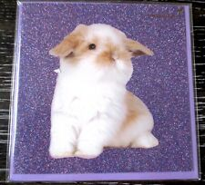 Papyrus Glitter Bunny Rabbit Easter Greeting Card NIP SEALED