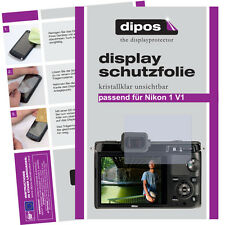 2x Nikon 1 V1 Schutzfolie klar Displayschutzfolie Folie unsichtbar Passgenau