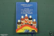 original DDR Werbung Pappe Florena Shampoo