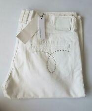 Women's CALVIN KLEIN  strech denim crop trousers White  color size 32 BNWT