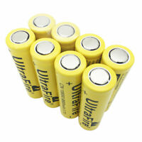 8X18650 9800mAh Li-ion Battery 3.7V Rechargeable Flat Top for Flashlight Torch
