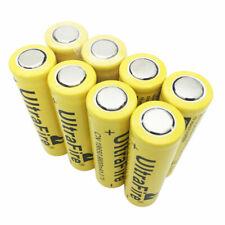 Parte superior plana 8X 18650 Batería Li-Ion 9800mAh 3.7V Recargable para Linterna Antorcha