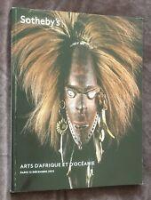 catalogue de vente ARTS D'AFRIQUE ET D'OCÉANIE  Sotheby's 12.12.2012