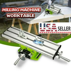 Compound Milling Machine Work Table Cross Slide Bench Drill Vise Fixture 2 Axis