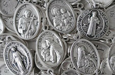 Bulk Religious Medal Variety Pack - 50 qty - SILVER PLATED - Italian Made