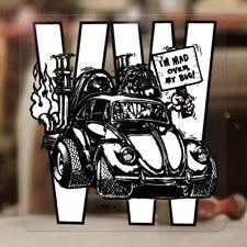 "Mad over my bug Ed Roth sticker decal bus samba beetle bug aircooled 3.75"""