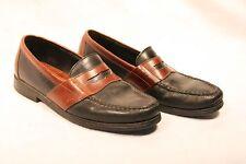 Sperry Top Sider Penny Loafer Men 8 Black and Brown Black Sole Slip On Shoes
